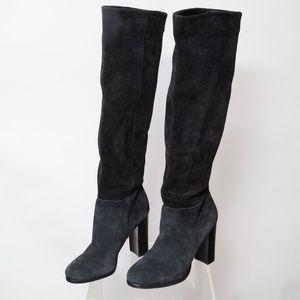 Sam Edelman Victoria Heeled Suede Boot Size 7